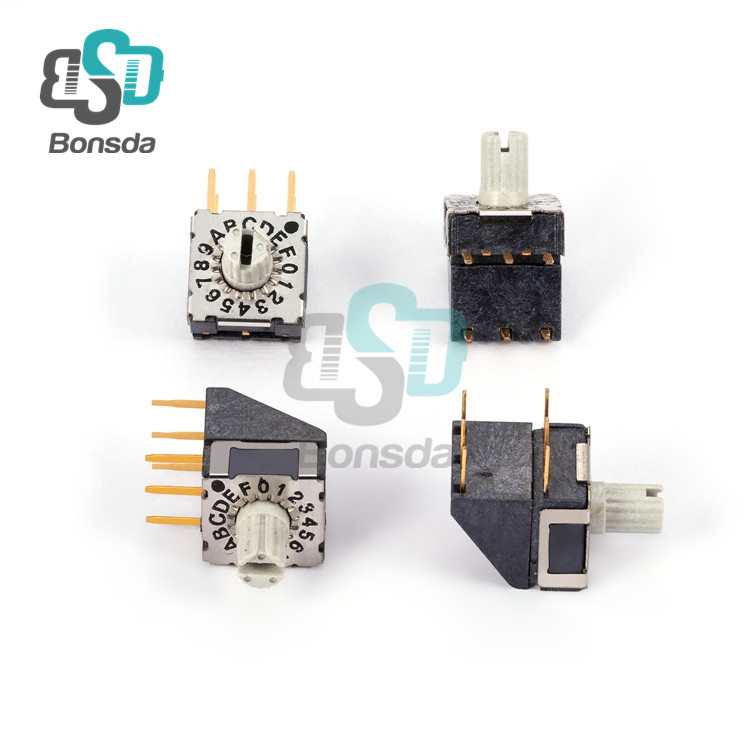 Rotary DIP Switch MiniMSSR-16H horizontal plug-in 6-pin 16 stalls rotary encoding switch
