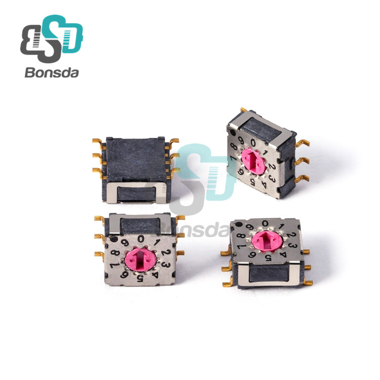 Rotary DIP Switch MiniMSDR-10S Vertical 6-pin patch 10-position rotary coding switch