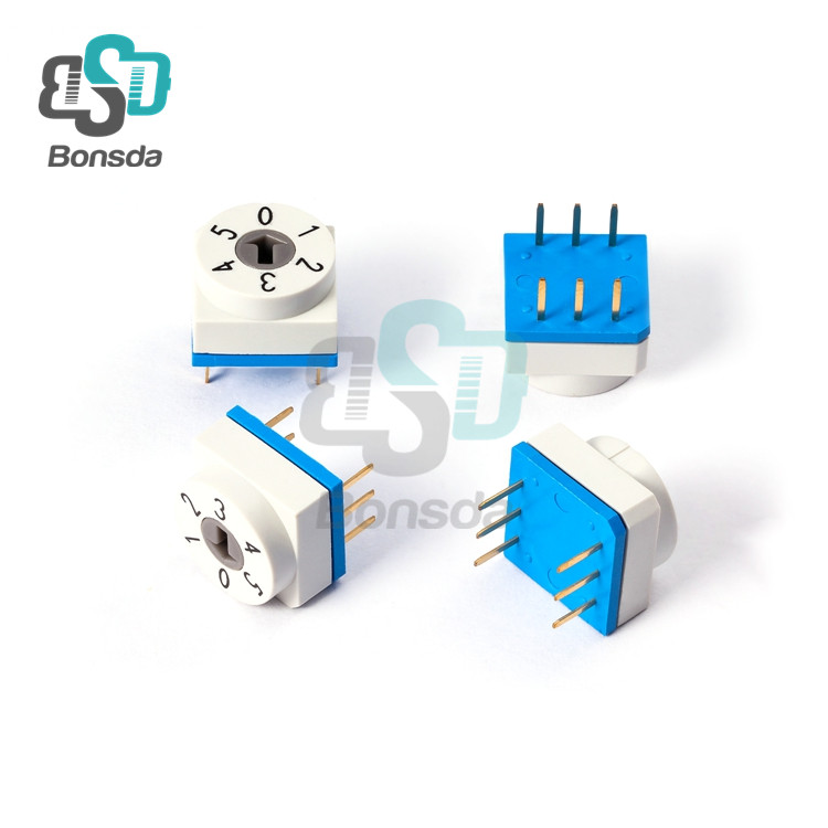 Rotary DIP Switch 10X10 IP67 waterproof DIP Rotary SwitchesTDL-06 Vertical 6-pin plug-in 6-position rotary coding switch